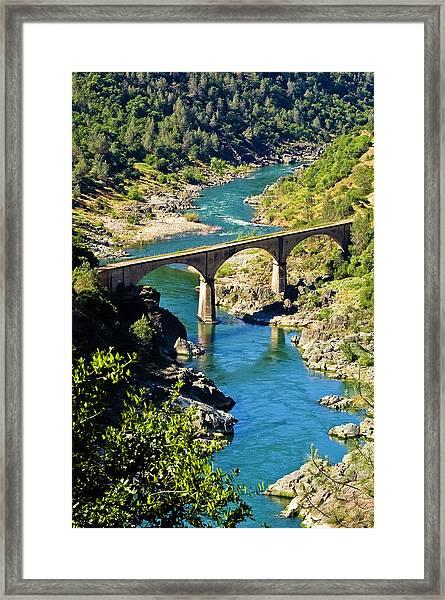 No Hands Bridge Framed Print