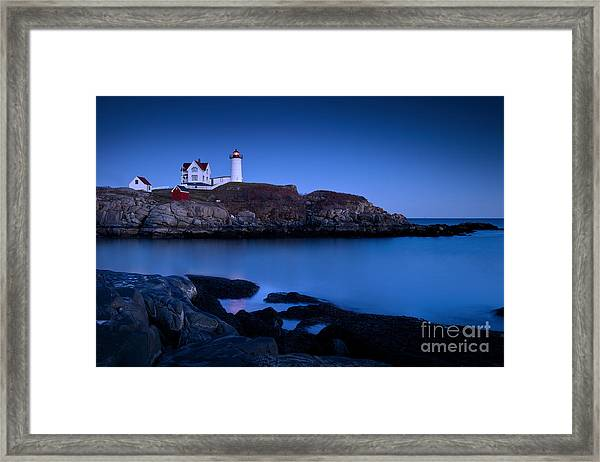 Framed Print featuring the photograph Nubble Lighthouse by Brian Jannsen