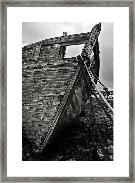 Old Abandoned Ship Framed Print