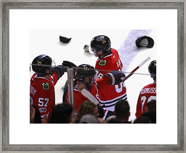 Pittsburgh Penguins V Chicago Blackhawks Framed Print by Jonathan Daniel