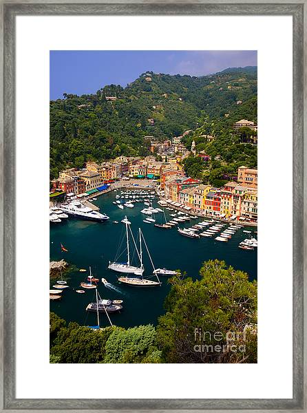 Framed Print featuring the photograph Portofino by Brian Jannsen