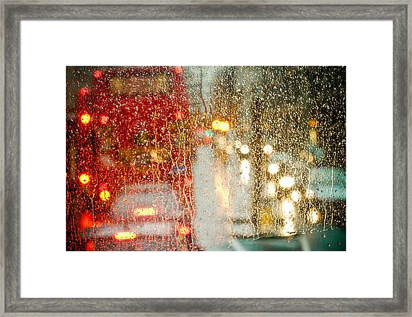 Framed Print featuring the photograph Rainy Day In London by Raimond Klavins