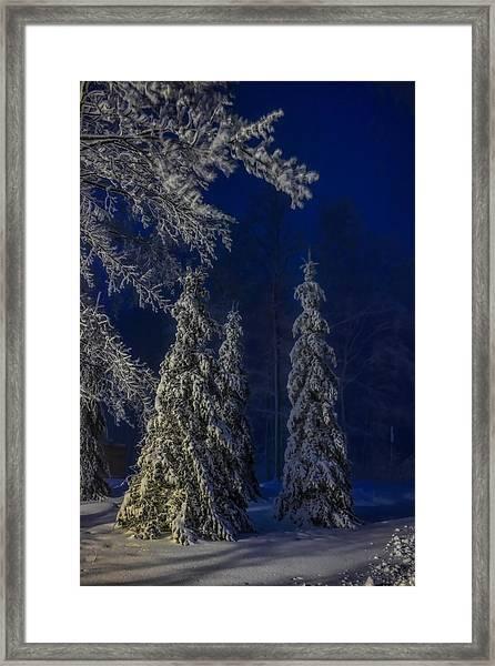 Rib Mountain State Park Snow Framed Print