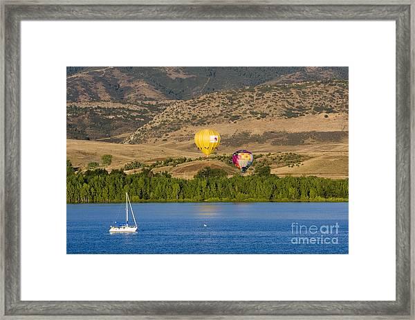 Rocky Mountain Balloon Festival Framed Print