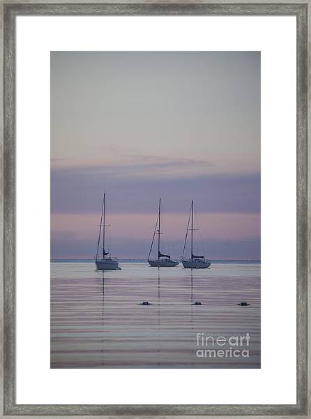 3 Sailboats Framed Print