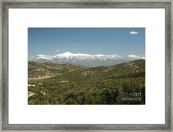 611p Schell Creek Range Nv Framed Print
