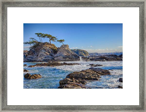 Sea Side Framed Print by Tad Kanazaki