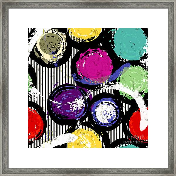 Seamless Background Pattern, With Framed Print