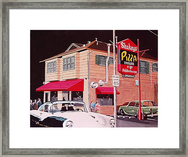 Shakey's Pizza Framed Print by Paul Guyer