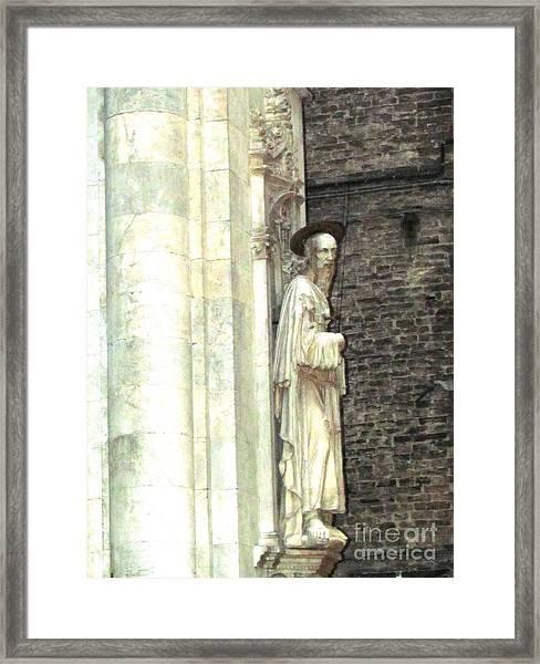 Siena Sculpture Framed Print