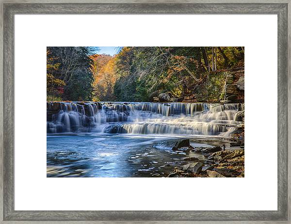 Squaw Rock - Chagrin River Falls Framed Print