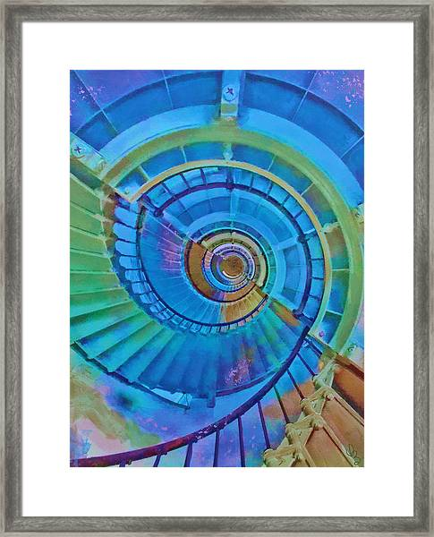 Stairway To Lighthouse Heaven Framed Print