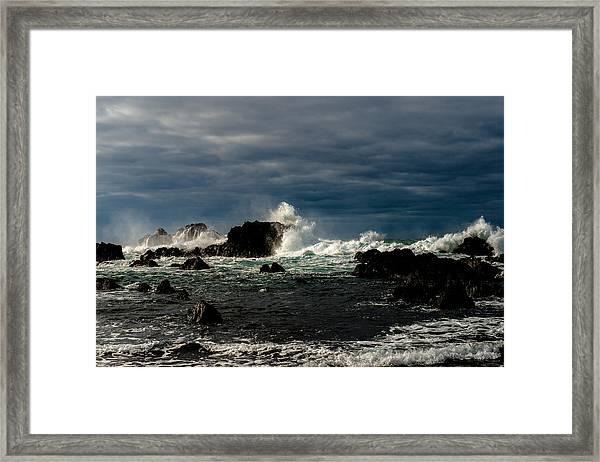 Stormy Seas And Skies  Framed Print