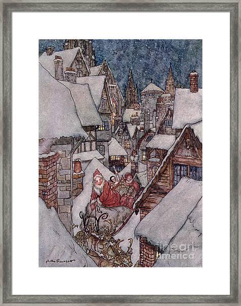 'the Night Before Christmas Framed Print