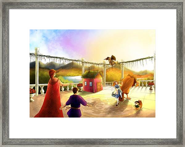 The Palace Balcony Framed Print