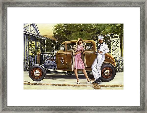 The Sailor's Girl Framed Print