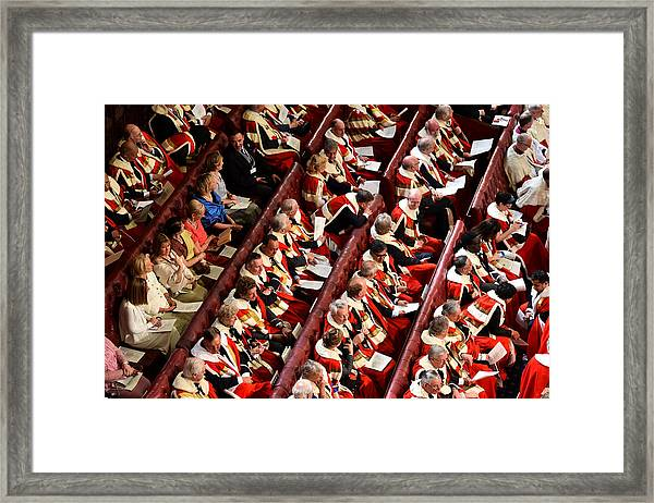 The State Opening Of Parliament Framed Print by WPA Pool