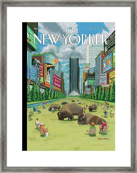 New Yorker August 27th, 2012 Framed Print