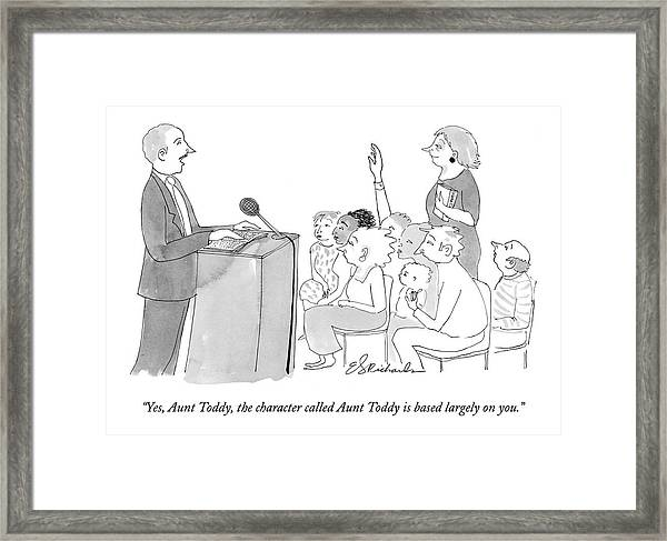 Yes, Aunt Toddy, The Character Called Aunt Toddy Framed Print
