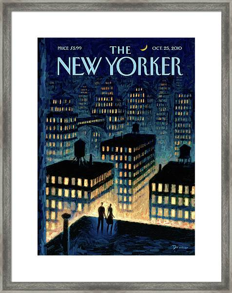 New Yorker October 25th, 2010 Framed Print by Eric Drooker