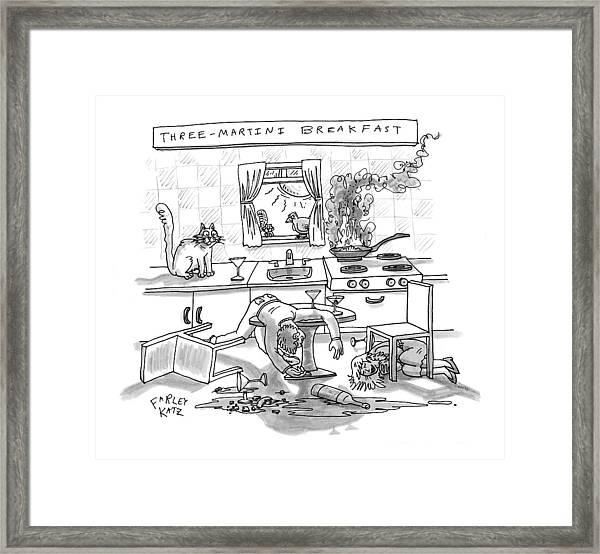 Captionless; Three-martini Breakfast Framed Print