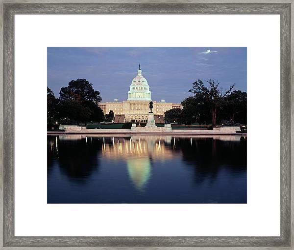 Usa, Washington Dc, Capitol Building Framed Print by Walter Bibikow