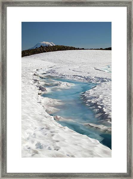 Wa, Goat Rocks Wilderness, Melt Water Framed Print