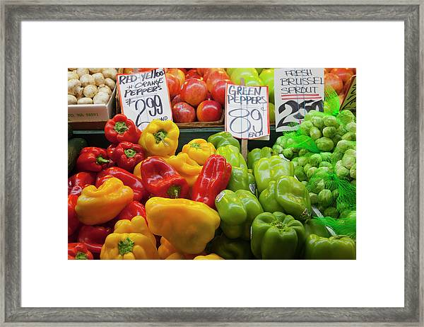 Wa, Seattle, Pike Place Market Framed Print by Jamie and Judy Wild