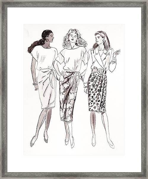 3 Woman Framed Print
