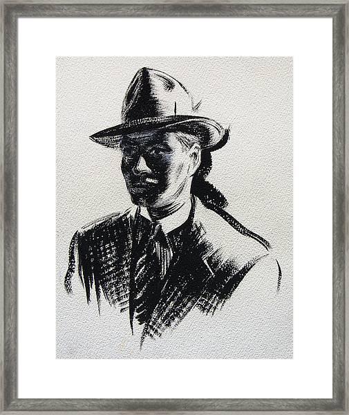 Secret Agent Study 3 Framed Print