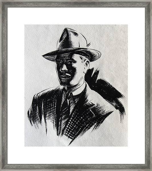 Secret Agent Study 2 Framed Print