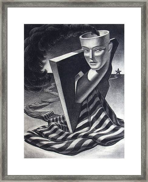 Architecture Of Imagination Framed Print