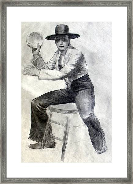 Tambourine Man Framed Print
