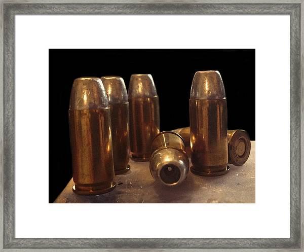 Bullet Art 32 Caliber Bullets 3514 Framed Print