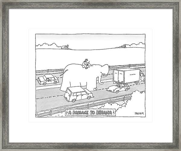 Passage To Indiana Framed Print