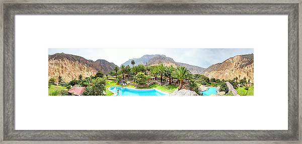 360 Degree View Of The Oasis Framed Print