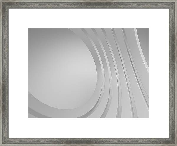 3d Blank Abstract Architecture Framed Print