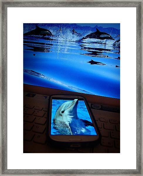 3d Phone... Framed Print