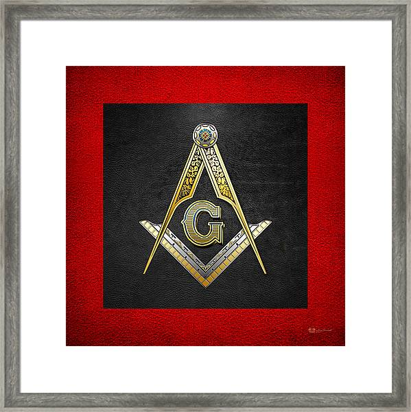 3rd Degree Mason - Master Mason Masonic Jewel  Framed Print