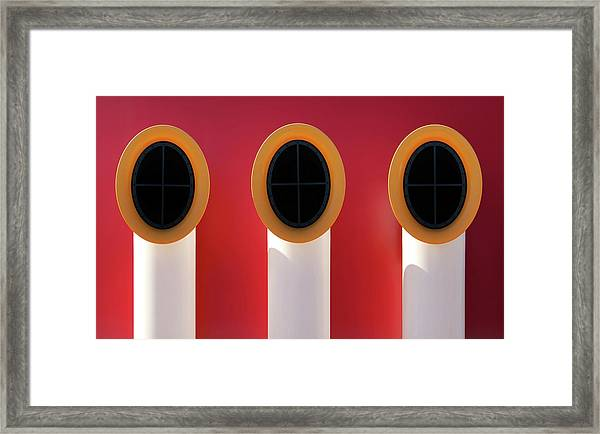 3x0 Framed Print by Hans-wolfgang Hawerkamp