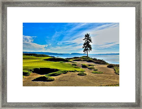 #15 At Chambers Bay Golf Course - Location Of The 2015 U.s. Open Tournament Framed Print
