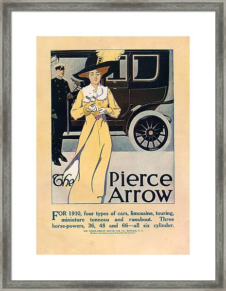 1910s Usa Pierce-arrow Magazine Advert Framed Print