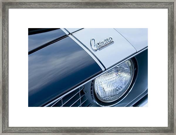1969 Chevrolet Camaro Z-28 Emblem Framed Print