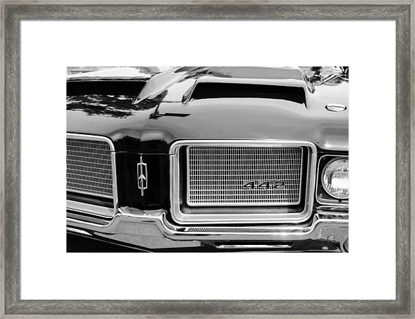 1972 Oldsmobile 442 Grille Emblem Framed Print