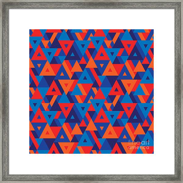 Abstract Geometric Background - Framed Print by Sergey Korkin