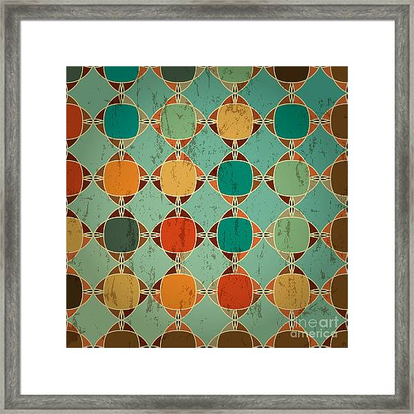 Abstract Geometric Pattern Background Framed Print by Kirsten Hinte