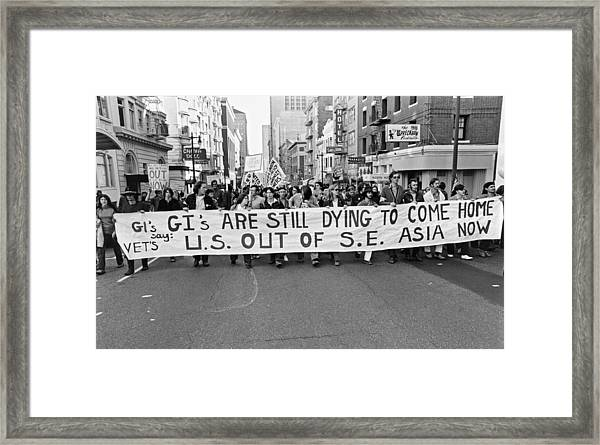 Anti Vietnam War Demonstration Framed Print
