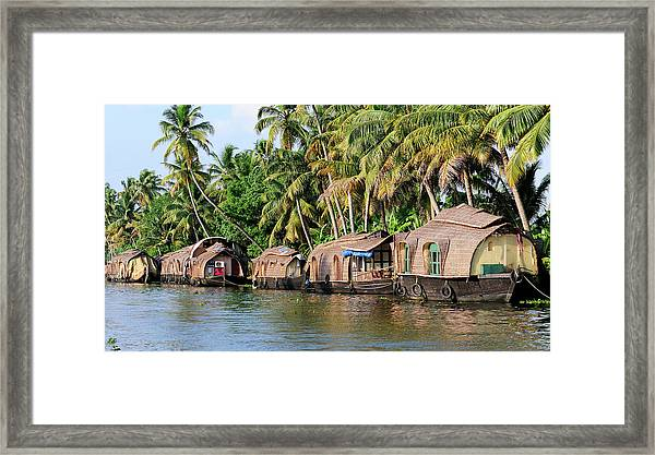 Asia, India, Kerala (backwaters Framed Print