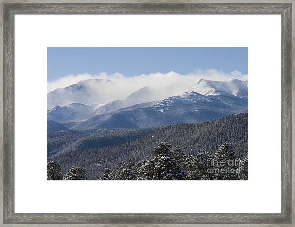 Blizzard Peak Framed Print