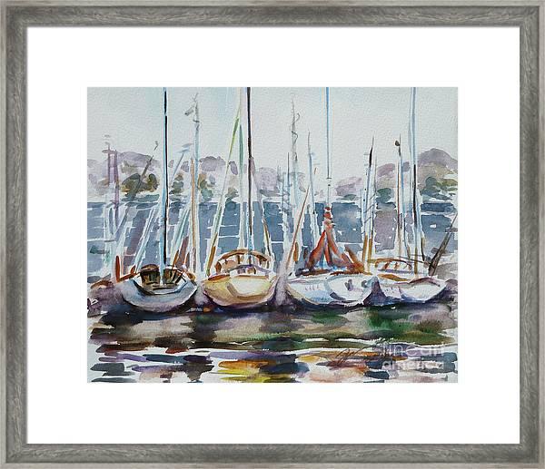 4 Boats Framed Print